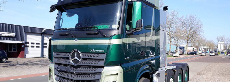 Project vrachtwagen bedrijfskleuren